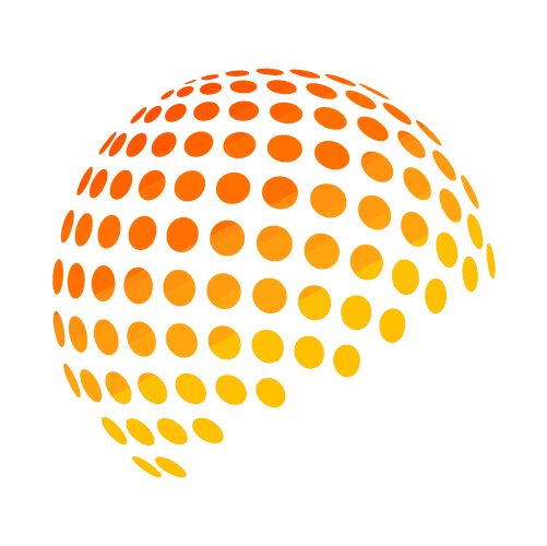 World of Events favicon featuring a dotted globe representing corporate bussiness events and management